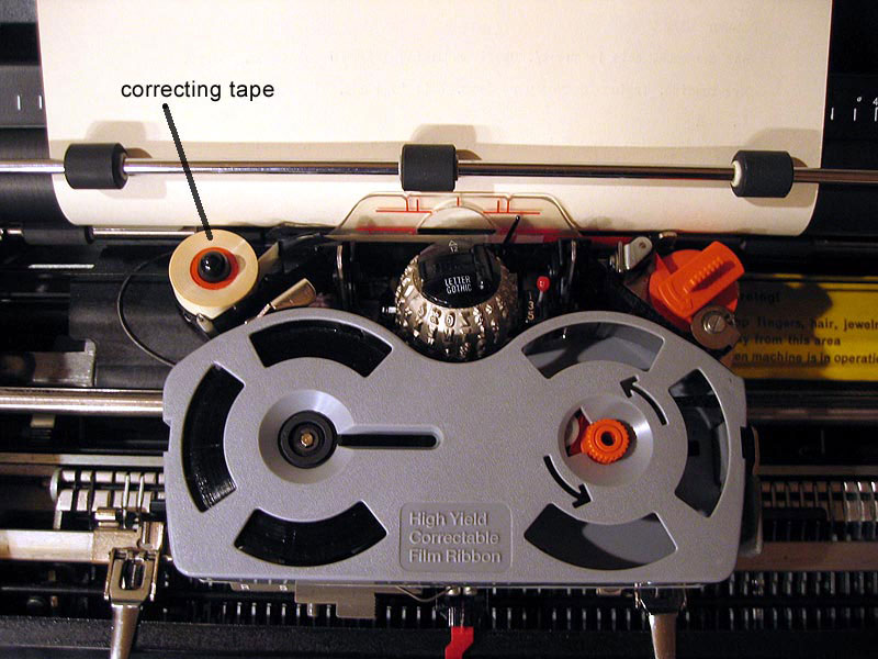 Selectric correcting tape